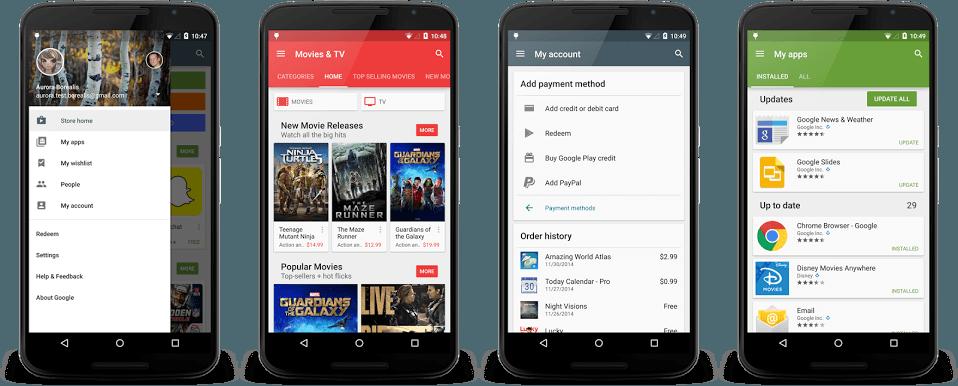 Actualizar Android con la nueva versión de Google Play
