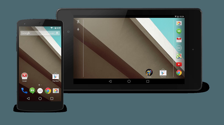 actualizar Android L en el  Nexus 5 y Nexus 7 (2013)