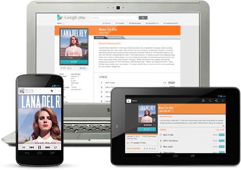 Nueva actualización de Google Play Music