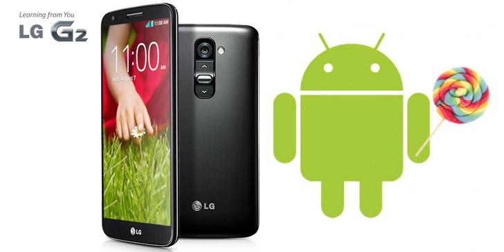 Actualizar Android 5.0 Lollipop oficial en el LG G2