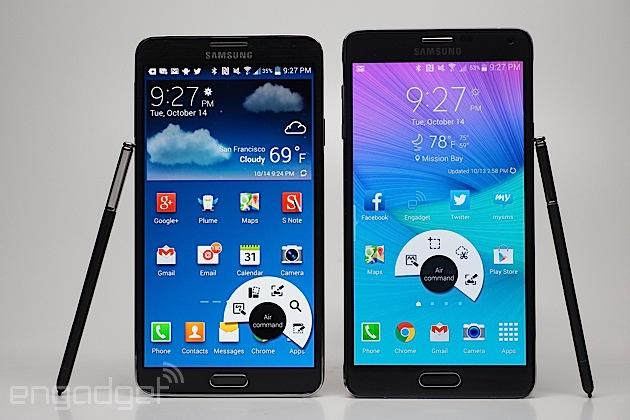 Actualización Android 5.0 del Samsung Galaxy Note 3 y 4