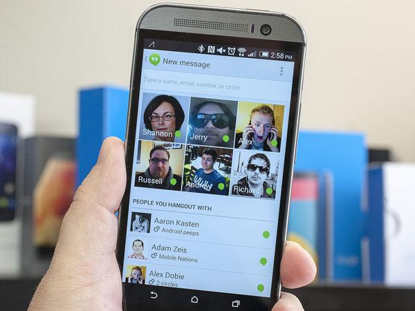 Nueva version 2.1 de Hangouts para Android