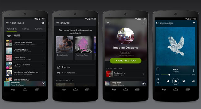 Nueva actualización de Spotify para Android