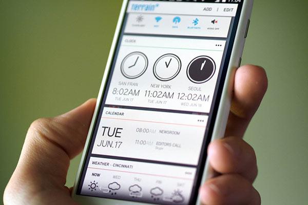 Actualiza la interfaz de tu Android con Terrain Home