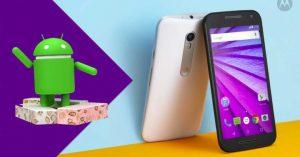 actualizar Android 7.0 Nougat en el Motorola Moto G 2015