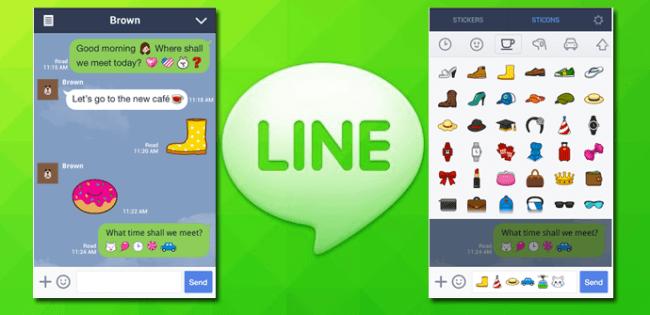 Nueva actualizacion de Line presenta los sticonos