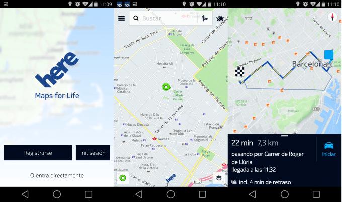 Actualiza los mapas con Nokia Here