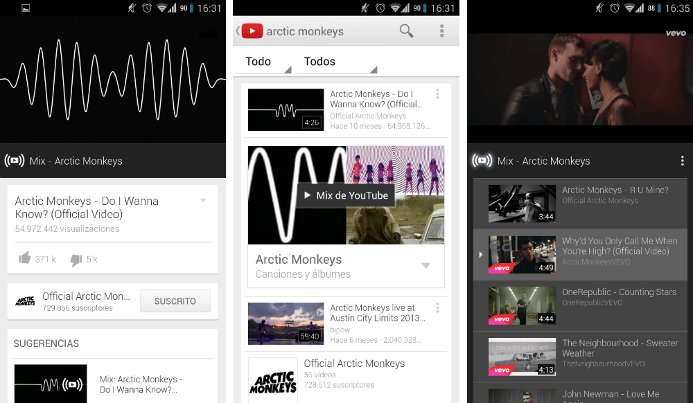 YouTube Mix, nueva actualización de YouTube para Android