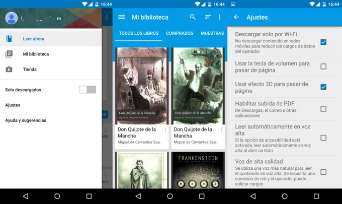 Google Play Books se actualiza a la interfaz Material Design