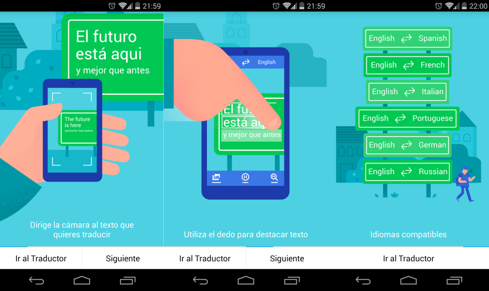 Actualiza Android con Google Translate 3.1
